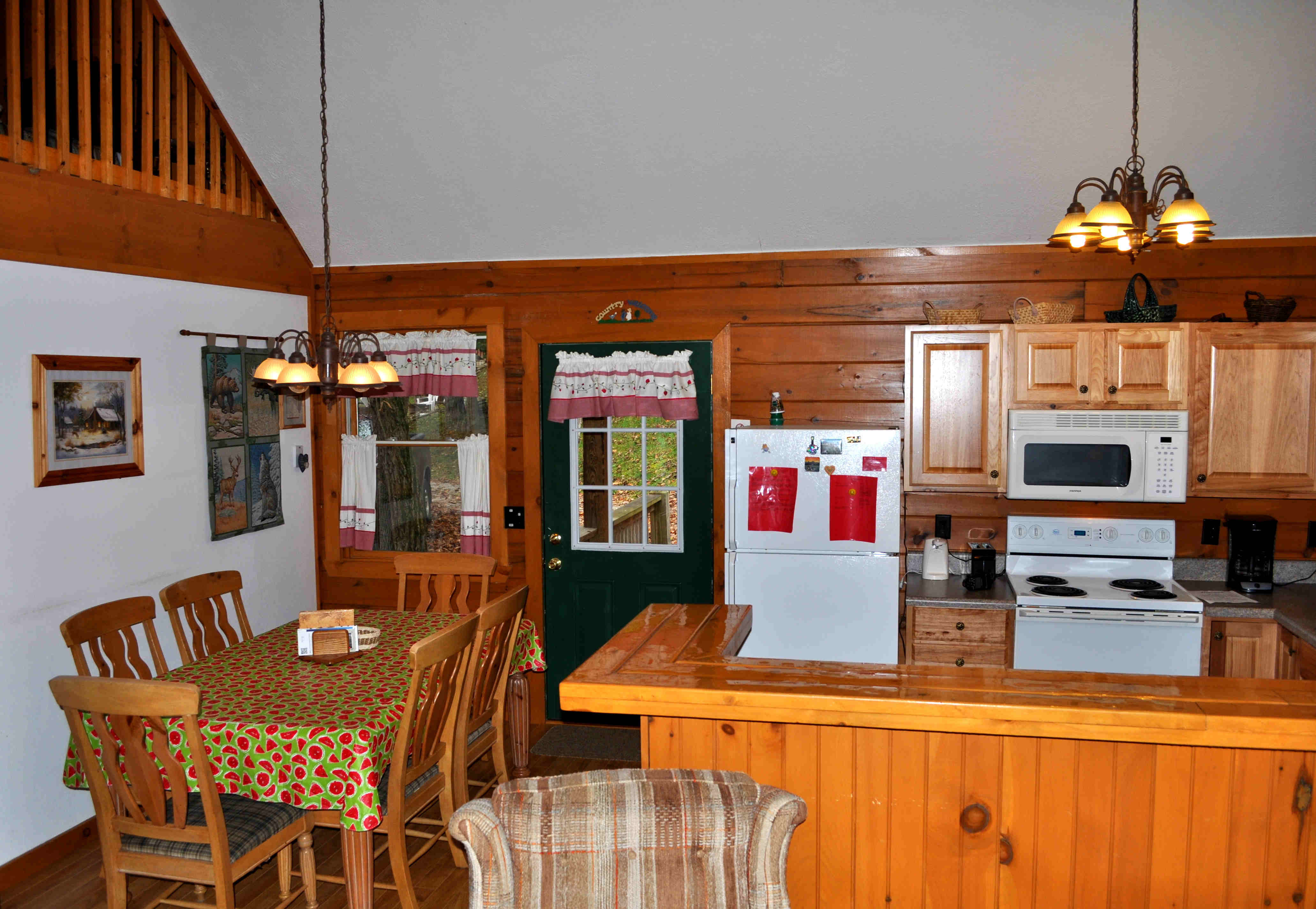 Cabin 3 Kitchen and Dining Room